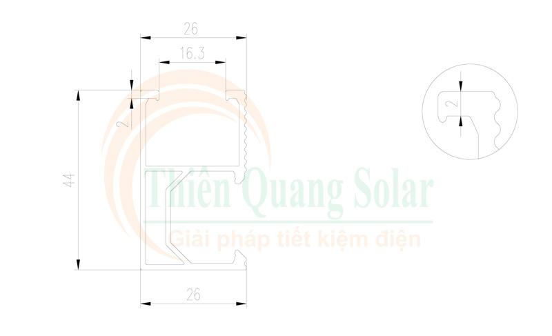 Thanh nhôm lắp tấm pin năng lượng mặt trời